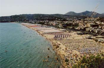 Crowded Beach in Gaeta