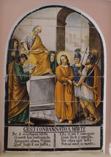 Gesu condannato a morte, Jesus is condemned to death
