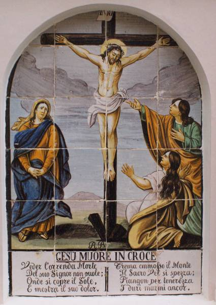 Gesu muore in croce, Jesus dies on the cross