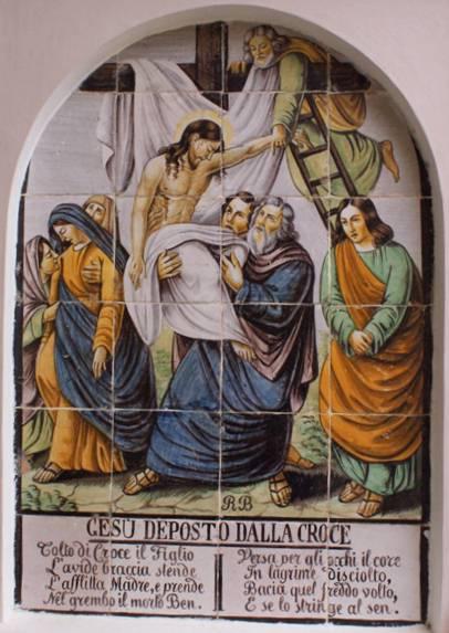 Gesu deposto dalla croce, Jesus' body is removed from the cross