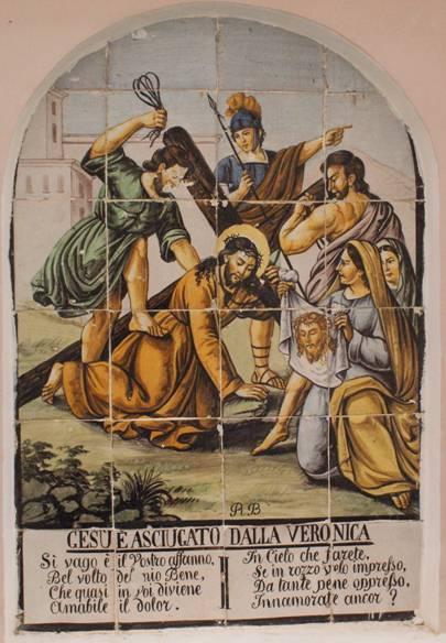 Gesu e asciugato dalla veronica, Veronica wipes the face of Jesus