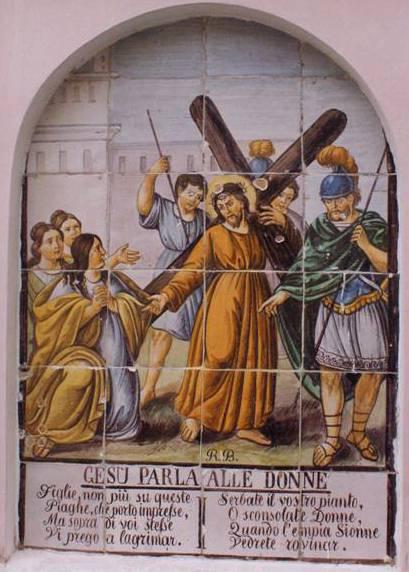 Gesu parla alle donne, Jesus meets the daughters of Jerusalem