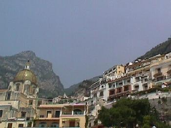 Buildings on the Mountainside of Positano