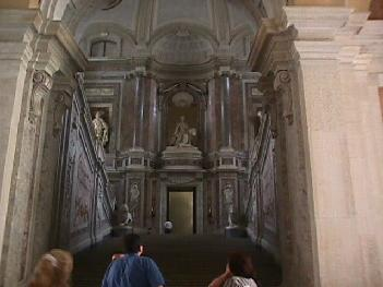 Main Stairwell Inside the Royal Palace of Caserta