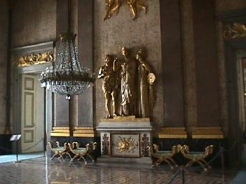 Detailed Artwork Inside the Royal Palace of Caserta