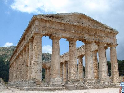The ancient Greek temple at Segesta