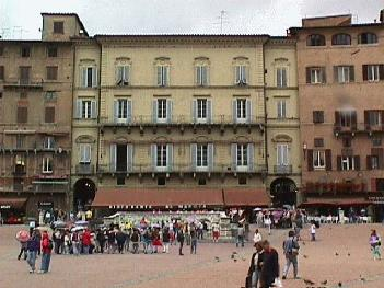 An apartment building located on the Piazza del Campo in Siena