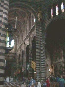 Black & White Striped Pillars