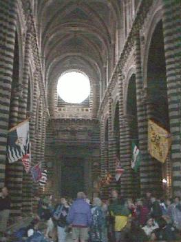 Interior view of the Duomo in Siena