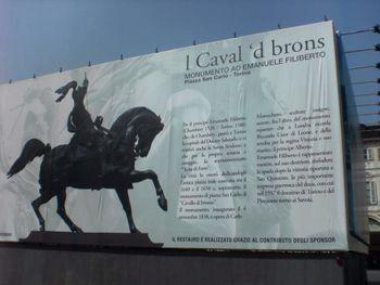 Piazza San Carlo - L Caval d'Brons