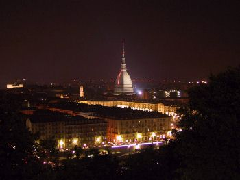 Turin Landscape By Night